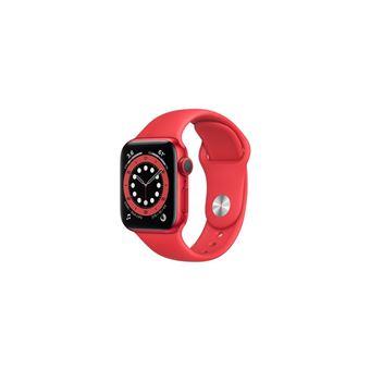 Apple Watch Series 6 GPS, 40mm boitier aluminium rouge avec bracelet sport rouge