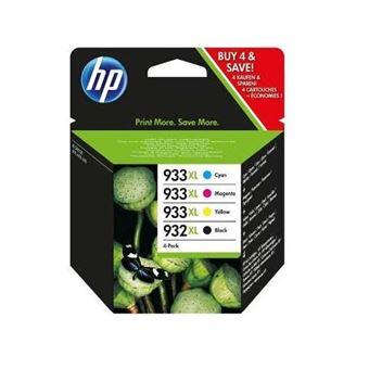 Pack de 4 cartouches d'encre HP 933XL + 932XL Cyan, Magenta, Jaune et Noir