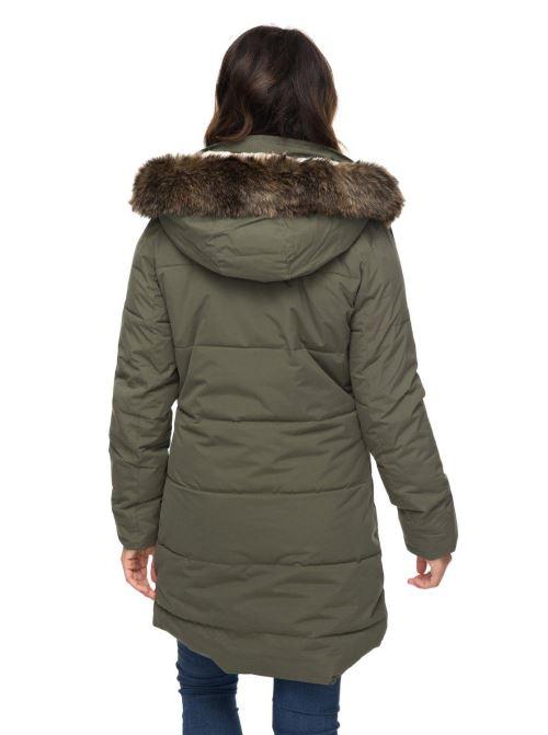 Parka Femme Roxy Ellie 5K Verte Taille XS