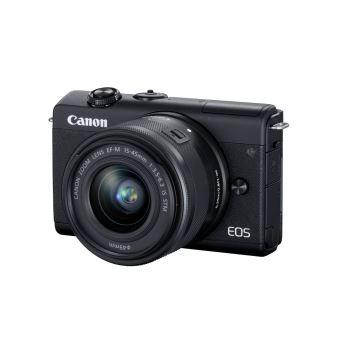 Appareil photo hybride Canon EOS M200 + Objectif EF-M 15-45 mm f/3.5-6.3 IS STM Noir