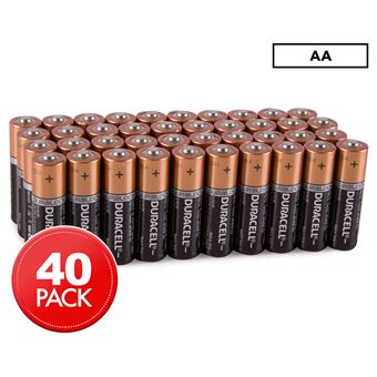 Pack de 40 piles Duracell Alcalines AA 9V