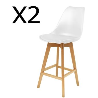 cm bois coloris de DimH 106 x 3 en blanc P de chaises Lot L 48 x bar 56 2 PEGANE AR543jL