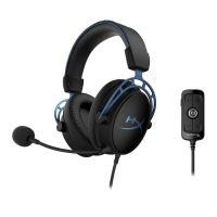 HyperX Cloud Alpha S - Koptelefoon - over oor - met bekabeling - 3,5 mm-stekker - zwart