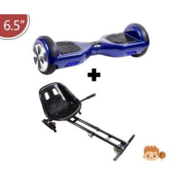 hoverboard enfant bleu adulte 6 5 avec kart noir bluetooth marque francaise skateboard. Black Bedroom Furniture Sets. Home Design Ideas