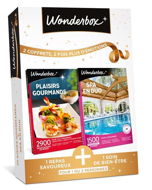 Coffret cadeau Wonderbox Plaisirs gourmands et Spa en duo