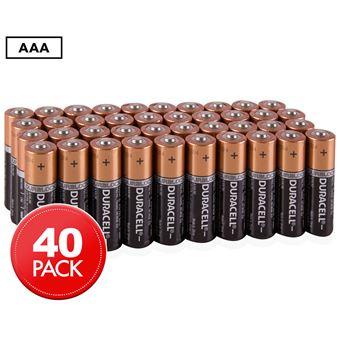 Pack de 40 piles Duracell Alcalines AAA 9V