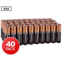 Pack de 40 piles Duracell Alcalines AAA 9V