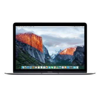 """Apple MacBook 12"""" LED 256 Go Flash 8 Go RAM Intel Core m3 bicœur à 1.1 GHz FLH72FN/A Gris sidéral Reconditionné"""