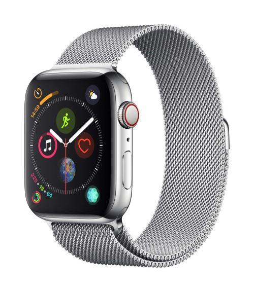Fnac.com : Apple Watch Series 4 Cellular 44 mm Boîtier en Acier inoxydable avec Bracelet Milanais - Montre connectée.
