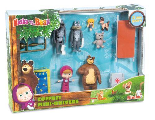 Coffret 7 figurines Simba Masha et Michka