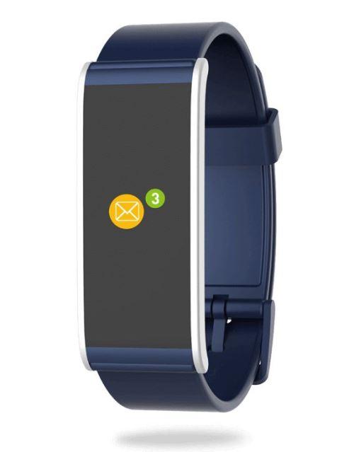 Tracker d´activité MyKronoz ZeFit 4 HR Bleu et argent avec capteur de rythme cardiaque