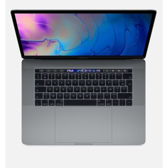"Apple MacBook Pro 15.4"" Bar Tactile 256Go SSD 16Go RAM Intel Core i7 Hexacœur à 2.6GHz Gris Sidéral"