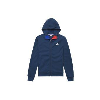 Sweat à capuche zippé Le coq sportif Tricolore Bleu Taille L