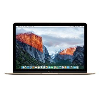 """Apple MacBook 12"""" LED 256 Go Flash 8 Go RAM Intel Core m3 bicœur à 1,1 GHz FLHE2FN/A Or reconditionné certifié Apple"""