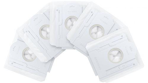 Lot de 5 Sacs à poussière pour Clean Station™ Samsung VCA-ADB90 Blanc