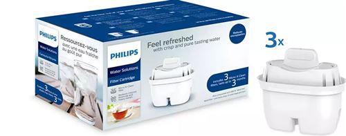 Pack de 3 filtres pour carafes filtrantes Philips Mayflower AWP211 Blanc