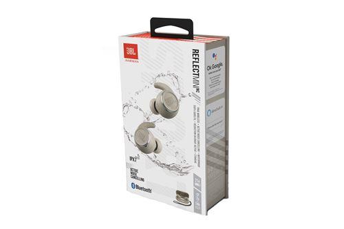 Écouteurs de sport étanches sans fil à réduction de bruit JBL Reflect Mini ANC Blanc