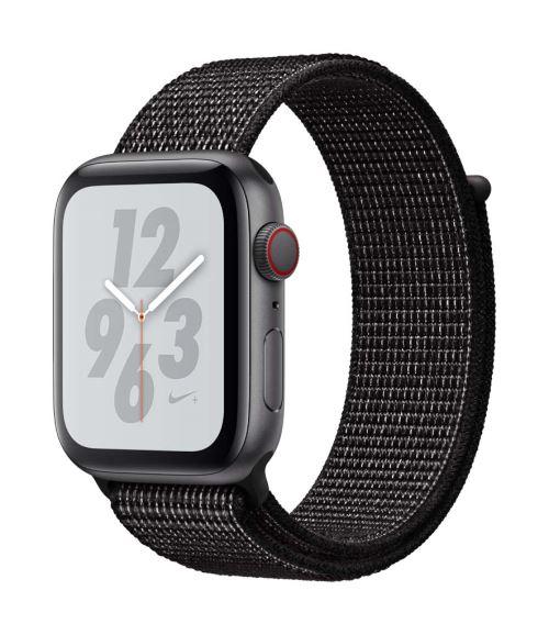 Fnac.com : Apple Watch Series 4 Nike+ Cellular 44 mm Boîtier en Aluminium Gris sidéral avec Boucle Sport Nike Noir - Montre connectée.