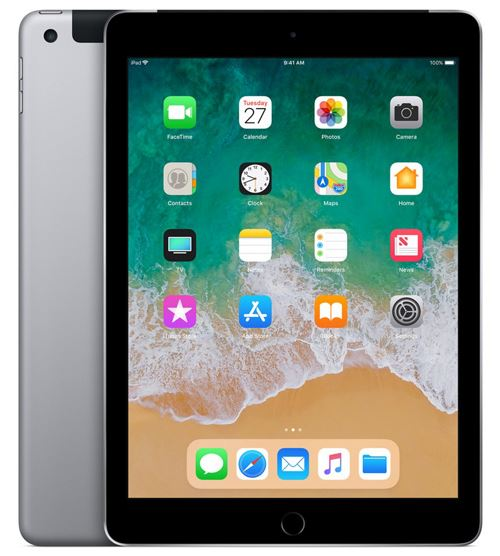 Apple iPad 128 Go WiFi + 4G 9.7 Gris Sidéral Nouveau