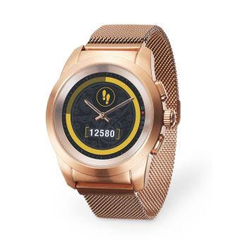 MyKronoz ZeTime Elite Verbonden Horloge Goud Roos met Milanese Armband