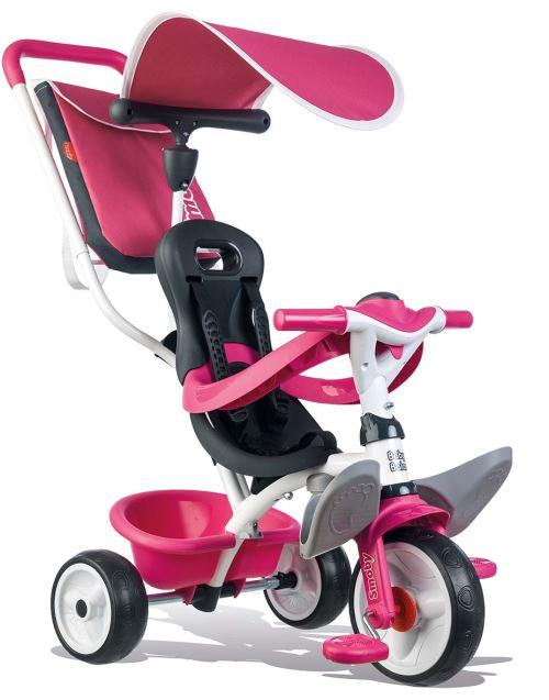 Tricycle Smoby Baby Balade 2 Rose roues silencieuses - Tricycle. Achat et vente de jouets, jeux de société, produits de puériculture. Découvrez les Univers Playmobil, Légo, FisherPrice, Vtech ainsi que les grandes marques de puériculture : Chicco, Bébé Co
