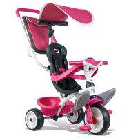 Tricycle Smoby Baby Balade 2 Rose roues silencieuses