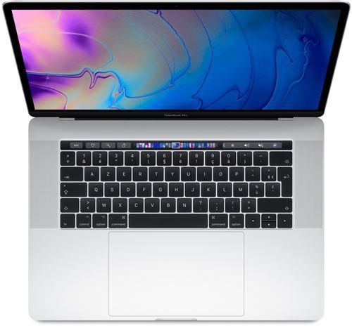 Apple MacBook Pro 15.4 Touch Bar 256 Go SSD 16 Go RAM Intel Core i7 hexacur à 2,2 GHz Argent Nouveau