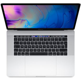 "Apple MacBook Pro 15.4"" Touch Bar 256GB SSD 16GB RAM Intel Core i7 Hexa Core 2.2GHz Zilver"