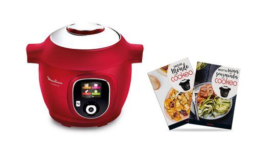 Multicuiseur Moulinex Cookeo+ avec 180 Recettes et 2 livres de cuisine inclus YY4393FB 1600 W Rouge