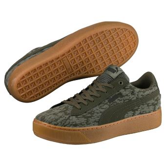 Puma Platform Vert Femme Vikky Taille Chaussures 36 Kaki 5A84q1x