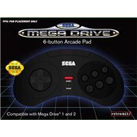 Manette Retro-bit Sega Megadrive 6 Noir
