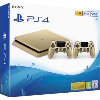console sony ps4 500 go or 2 me manette ps4 dual shock 4. Black Bedroom Furniture Sets. Home Design Ideas