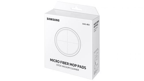 Lot de 4 Coussins microfibres réutilisables Samsung VCA-SPW90 pour Double serpillière motorisée Gris