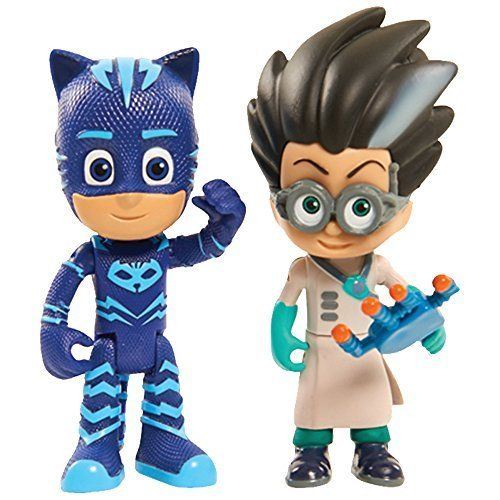 2 Figurines Pyjamasques Blister Yoyo et Romeo 75 cm