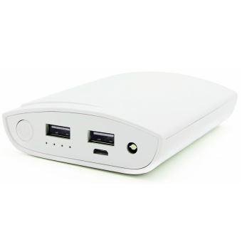 Batterie externe Temium PowerBank 10000 mAh Blanc - Chargeur pour