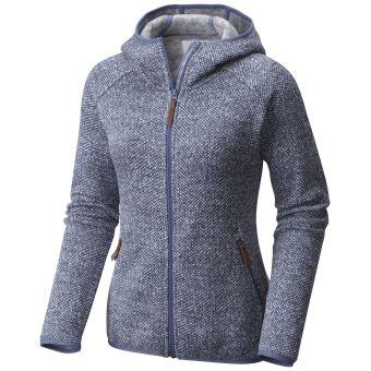 63d59ae3e7 Veste polaire à capuche zippée Femme Columbia Chillin Bleue Taille S ...
