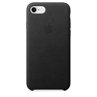 Coque en cuir Apple Noir pour iPhone 7 et 8