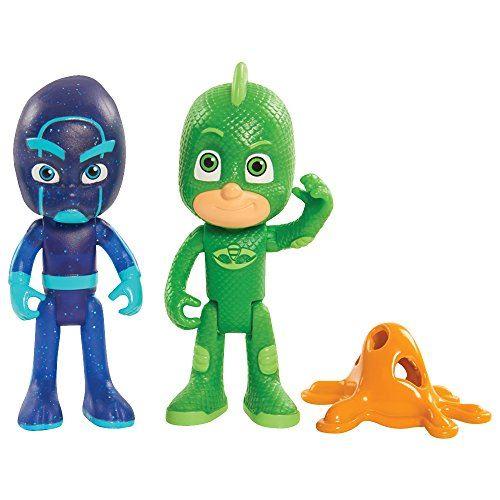 2 Figurines Pyjamasques Blister Gekko et ninja 75 cm