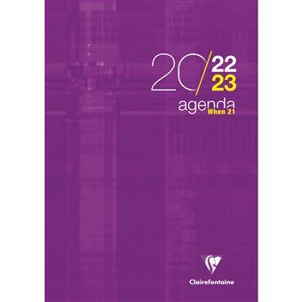 Agenda hebdomadaire 2020 couleurs vari/ées 21 x 29,7 cm