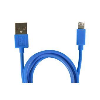 Câble Temium Lightning 1 m Bleu