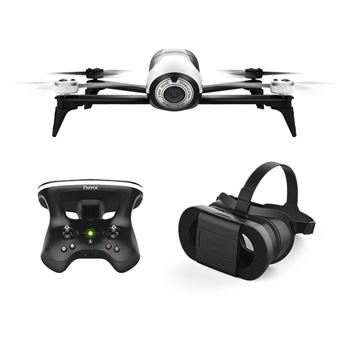 Drone Parrot Bebop 2 Blanc + Skycontroller 2 + Cockpit Glasses