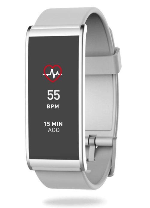 Tracker d´activité MyKronoz ZeFit 4 HR Blanc et argent avec capteur de rythme cardiaque