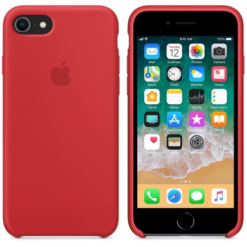 coque rouge silicone iphone 8
