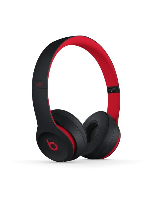 Casque Beats Solo3 sans fil  La collection Décennie de Beats, Defiant Noir-Rouge