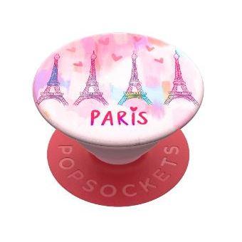 Grip PopSockets Paris Love Rose et Rouge