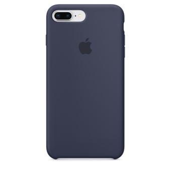 Coque en silicone Apple Bleu Nuit pour iPhone 7 Plus et 8 Plus