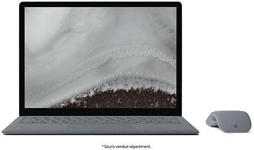 PC Ultra-Portable Microsoft Surface Laptop 2 13.5 Tactile Intel Core i5 8 Go RAM 128 Go SSD Platine