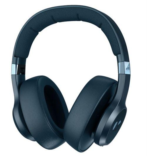 Casque circum-aural sans fil à réduction de bruit digitale Fresh'n Rebel Clam ANC DGTL Bleu Acier