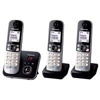 Panasonic KX-TG6823 - snoerloze telefoon - antwoordsysteem met nummerherkenning + 2 extra handsets