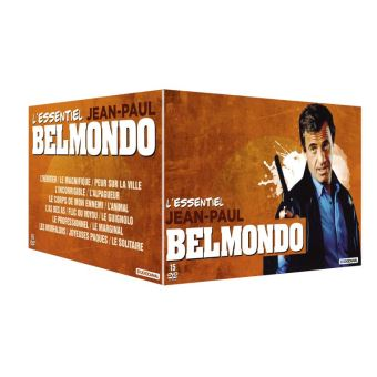 Coffret L'Essentiel Jean Paul Belmondo 15 films DVD